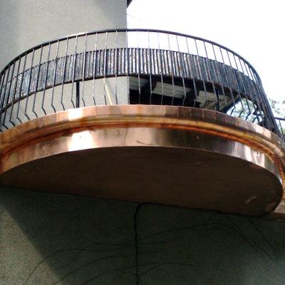 Canale di scolo per balcone rotonda del terrazzo