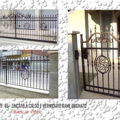 Cancello scorrevole, recinzione e cancello pedonale.