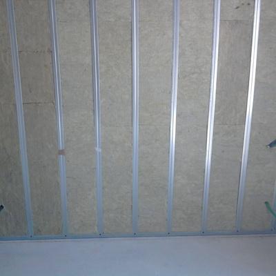 Struttura parete in cartongesso.