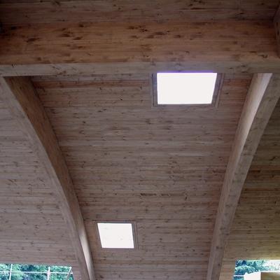 copertura lamellare e doghe strutturali