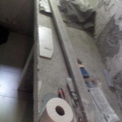 costruzione muretto x lavabi