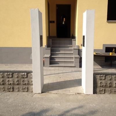 Costruzione muro di cinta