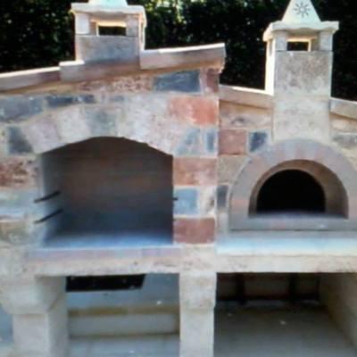 Creazione barbecure e forno a legna.