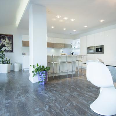 cucina salone  in villa