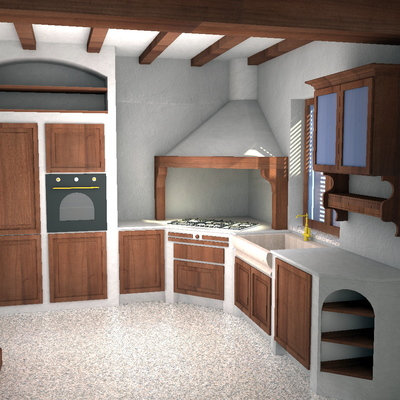 Cucina country 3D - 0