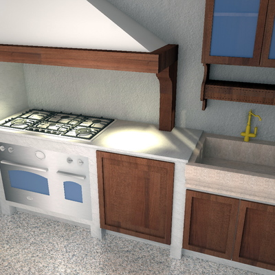 Cucina Country 3D-2