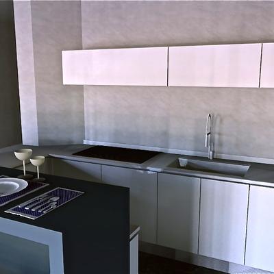 Cucina minimal con isola bar - foto3