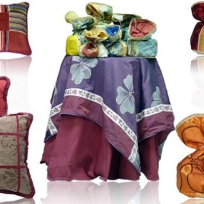 Cuscini e Sacchetti in stoffa pregiata