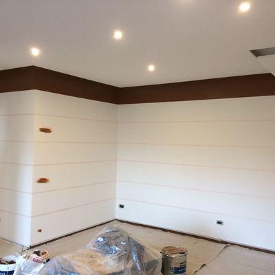 Preparazione parete sala