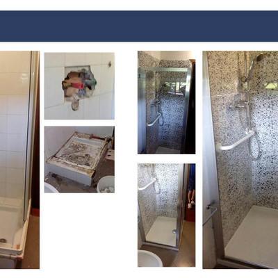 Trasformazione da doccia a doccia