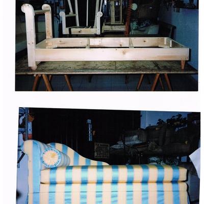 .....Dal fusto in legno massello, al prodotto finito. Una dormeuse interamente sfoderabile e lavabile.