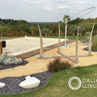 Dalia luxury piscina con platea in Decking