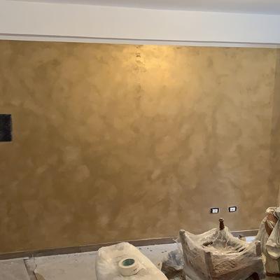 Tinteggiatura parete salone