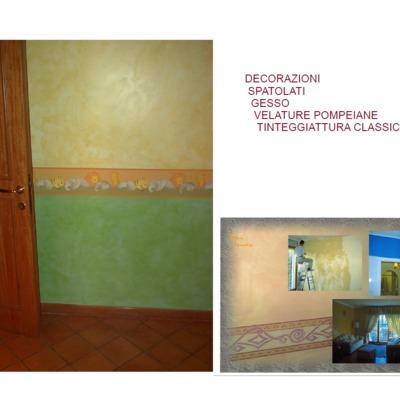 Decorazioni velature stucchi