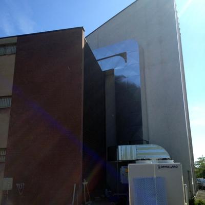 dettagli canali impianto ROOFTOP Teatro IPM Beccaria (MI)