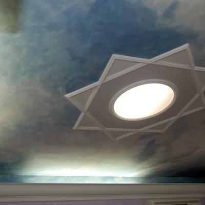 Diffusore luce perimetrale con Botola a soffitto de La Bottega degli Stucchi