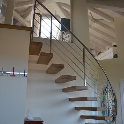 Particolare scala - villa Brescia nord