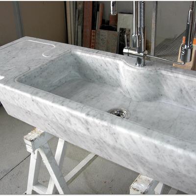 Lavabo cucina in Bianco Carrara