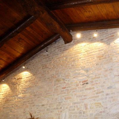 Muro in mattoni paramano effetto rustico