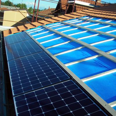 Fase di Installazione di impianto Sunpower Solrif