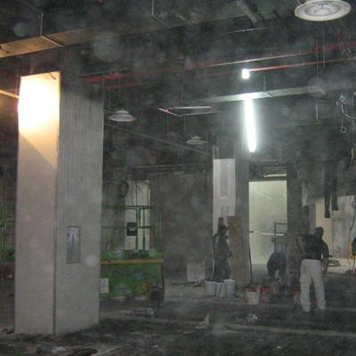 Fasi di allestimanto di un locale commerciale di 800mq