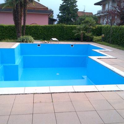 FINE POSA NUOVO RIVESTIMENTO IN PVC color blu adriatico