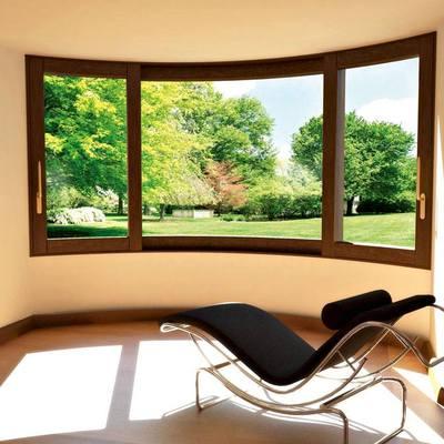 finestra a semicerchio vista interna