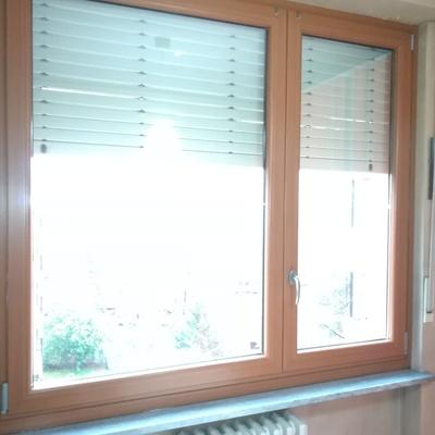 finestra disassata pvc effetto legno