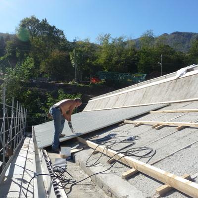 Fornitura e posa lamiere tetto