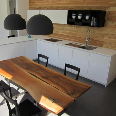 Cucina moderna bianca e legno - Cucina bianca legno ...