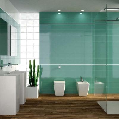 Il bagno si colora di verde!