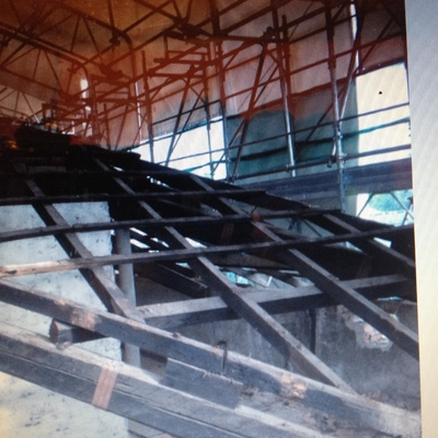 Vecchia struttura tetto