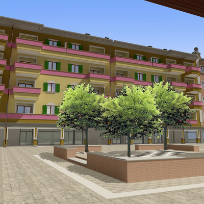 Fotomontaggio edificio ad uso abitativo