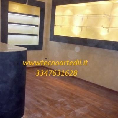 Fotto vetrina in cartongesso Milano