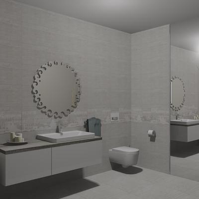 Mobile bagno con lavabo semincasso