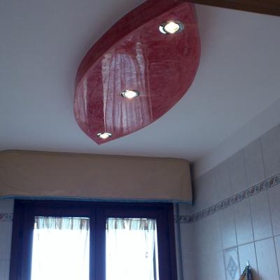 goccia in cartongesso soffitta bagno