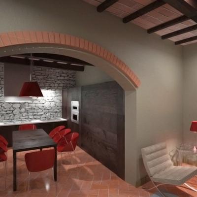 Ristrutturazione di un immobile del centro storico con SPA a Terricciola (PI)