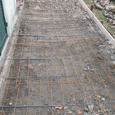 Terrazza di villa in fase di costruzione