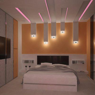 Abasamento controsofito ,elemento di beleza stanza da letto.