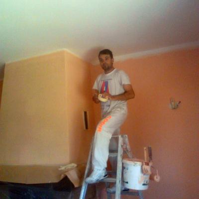 imbiancatura +preparazione soggiorno