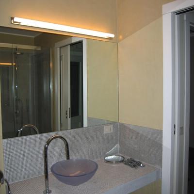 Milano - progetto di bagno con marmorino e mosaico