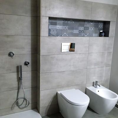 realizzazione di bagno con nicchia