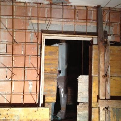 rinforzi strutturali su muri interni