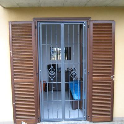 Grate di sicurezza e persiane in alluminio o acciaio