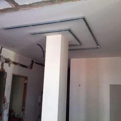 Installazione telaio a soffitto