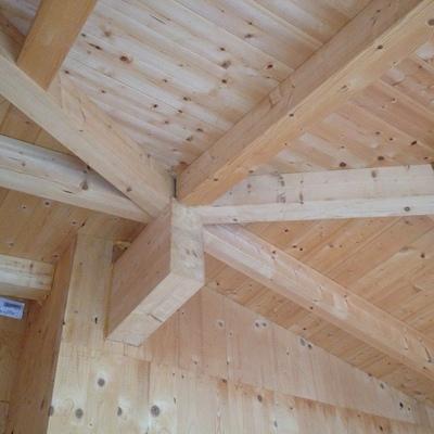 Soffitto con Travi in legno a vista