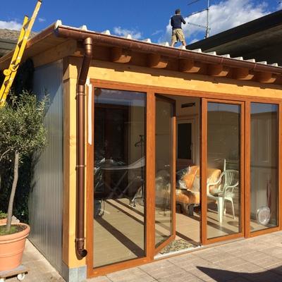 Costruzione tettoia con posa pannelli solari
