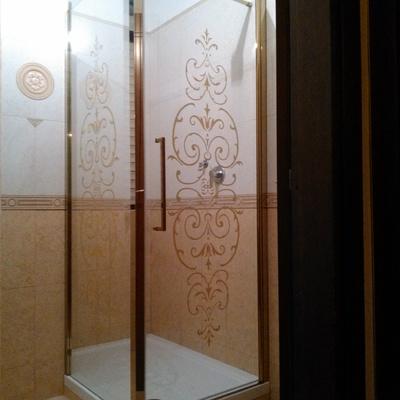 Box doccia oro
