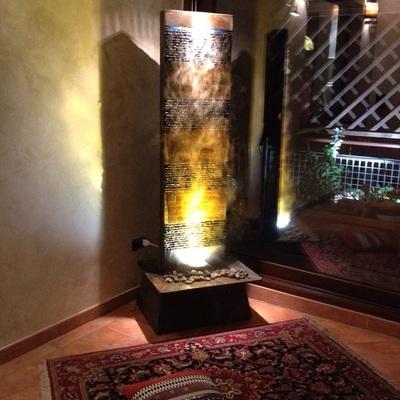 Angolo relax con fontana zen