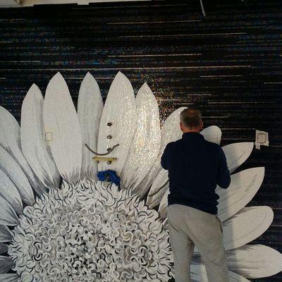 Rivestimento parete in mosaico flower Sicis